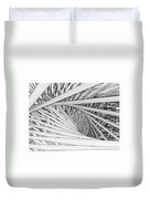 Abstract Urban City Building In Chaos Duvet Cover