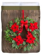 Advent Wreath With Winter Rose Duvet Cover