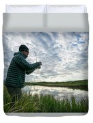 Adventures In Aniakchak, Ak Duvet Cover