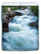 Alluvial Fan Falls On Roaring River In Rocky Mountain National Park Duvet Cover