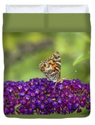 American Painted Lady Duvet Cover