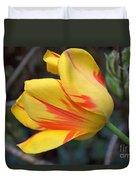Tulip In The Wind Duvet Cover