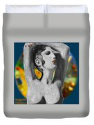 Aphrodite And  Cyprus Map Duvet Cover