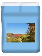 Autumn Colors In Maine Blueberry Field And Forest Duvet Cover