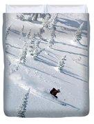 Backcountry Ski Traverse In Glacier Duvet Cover