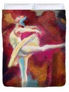 Ballet Dancer Duvet Cover by Corporate Art Task Force