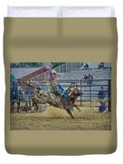 Bareback Bronc Riding Duvet Cover