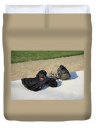 Baseball Glove And Chest Protector Duvet Cover