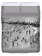 Bathers At Coney Island Duvet Cover