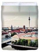 Berlin Germany View On Major Landmarks Duvet Cover