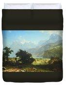 Bierstadt's Lake Lucerne Duvet Cover