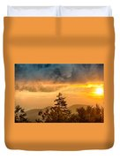 Blue Ridge Parkway Autumn Sunset Over Appalachian Mountains  Duvet Cover