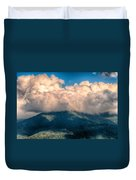 Blue Ridge Parkway Scenic Mountains Overlook Summer Landscape Duvet Cover