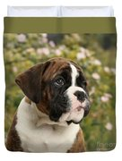 Boxer Puppy Duvet Cover