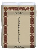 Boyle Written In Ogham Duvet Cover