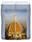 Brunelleschi's Dome At The Basilica Di Santa Maria Del Fiore Duvet Cover