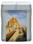 Brunelleschi's Dome At The Florence Cathedral  Duvet Cover