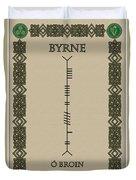 Byrne Written In Ogham Duvet Cover