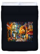 Cafe In The Old City Duvet Cover