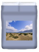 Caleta De Famara Beach On Lanzarote Duvet Cover