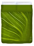 Calla Lily Stem Close Up Duvet Cover