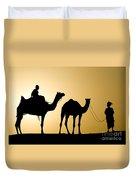Camel Caravan, India Duvet Cover