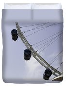 3 Capsules Of The Singapore Flyer Along With The Spokes And Base Duvet Cover