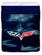 Chevrolet Corvette Emblem Duvet Cover