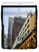 Chicago Loop 'l' Duvet Cover