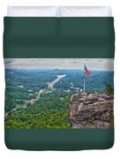 Chimney Rock At Lake Lure Duvet Cover