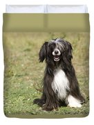 Chinese Crested Dog Duvet Cover