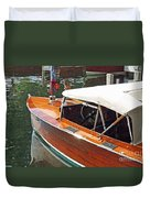 Chris Craft Runabout On Geneva Duvet Cover