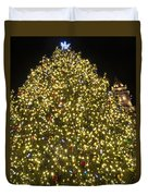 Christmas Tree Ornaments Faneuil Hall Tree Boston Duvet Cover
