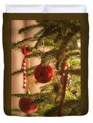 Christmas Tree Ornaments Duvet Cover