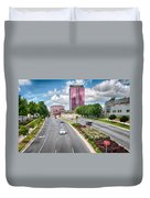 City Streets Of Charlotte North Carolina Duvet Cover