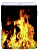 Close-up Of Fire Flames Duvet Cover