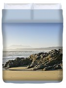 Coast Of Pacific Ocean On Vancouver Island Duvet Cover