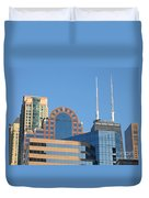Colorful Chicago Duvet Cover