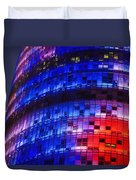 Colorful Elevation Of Modern Building Duvet Cover