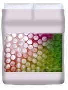 Colorful Straws Duvet Cover