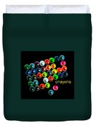 Colorful Wonderful Crayons Duvet Cover