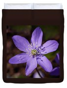 Common Hepatica Duvet Cover