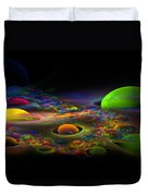 Computer Generated Spheres Abstract Fractal Flame Art Duvet Cover
