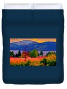 Cowichan Bay From Doman's Road Duvet Cover