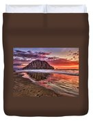 Crimson Sunset Duvet Cover
