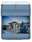Cultured Stone Terrace Trellis Details Near Park In A City  Duvet Cover