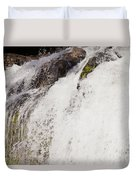 Curtain Of White Water Falling From Rocky Cliff Duvet Cover
