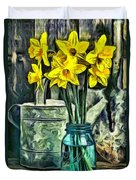 Daffodils Duvet Cover by Edward Fielding