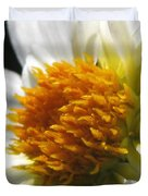 Dahlia Named Alpen Cherub Duvet Cover