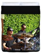 Dave Lombardo And Pancho Tomaselli Duvet Cover